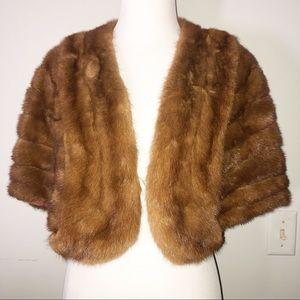 Vintage Fur Shawl Stole Wrap